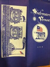 Vtg 1970 Southwestern Vermont Map nice art drawing and color