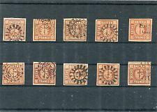 Bayern - 10 mal Nr. 4  o - undurchsucht ( 13747 )