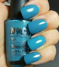 NYC  2296 WATER STREET BLUE IN A MINUTE NAIL POLISH QUICK DRY