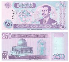 Iraq 250 Dinari 2002 P-88 di Saddam Hussein BANCONOTE UNC