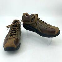 Skechers Shape-Ups Men's Size 13 Brown Leather UPS Overhaul Rocker Toning *READ