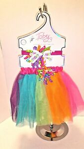"Toddler ""Birthday"" Headband and Matching Tutu, 2 Piece Set, Fits Size 2T to 4T"