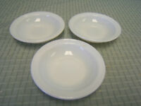 "Pyrex Tableware Lot of 3 Small Dessert Dishes 4-3/4"" diameter EUC"