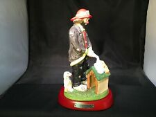 Emmett Kelly Jr Fireman Clown Firehose Dog House Hobo Hydrant Pedestal Flambro