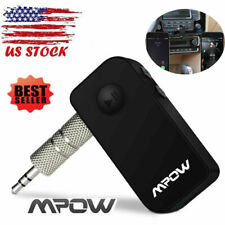 Mpow Bluetooth Car Aux Audio Stereo Music Adapter Receiver FM Transmitter US Sto