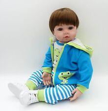 """22"""" 55cm Realistic Reborn Baby Doll Silicone Vinyl Dolls Lifelike Toddler Boy"""