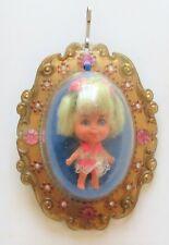 Vintage Liddle Kiddles 1966 Lola Lucky Locket Necklace Jewelry Little Doll