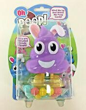 NEW Flix OH POOP Wind Up CANDY Toy Dispenser PURPLE BUNNY Emoji Easter Gag Gift