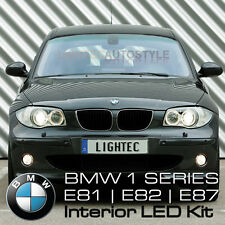 BMW 1 SERIES SMD LED FULL INTERIOR LIGHT KIT PURE XENON WHITE PUDDLE VANITY BOOT