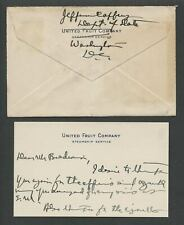 c.1929-32 Signed Letter & Envelope Noted Colombia Envoy JEFFERSON CAFFERY