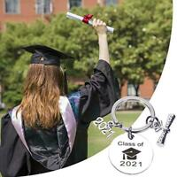 Class of 2021 Graduation Charm Keychain Bag Tag 69mm Student Keepsake Gift!