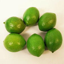 6pcs Green Plastic Lemons Home Decorative Tool Artificial Fruit Imitation Fake