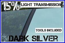 Oscuro Espejo De Plata 15% Ligth trans coche ventana de entintado película 3mx75cm tint+free Kit