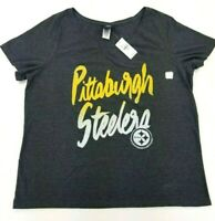 NFL Pittsburgh Steelers Plus Sized Women's 18/20 Team Apparel V-Neck Shirt NWT