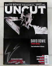 UNCUT Magazine DAVID BOWIE 1947-2016 DEFINITIVE TRIBUTE + Free CD March 2016 New