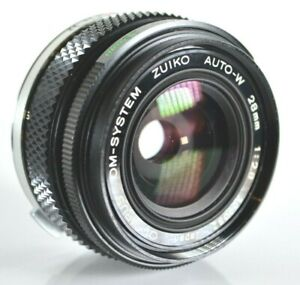 Olympus OM Systems Zuiko Auto W 28mm F:2.8 Wide Angle Lens Made in Japan