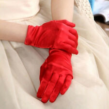 Women Evening Dressing Prom Driving Wrist Short Finger Satin Party Bride Gloves