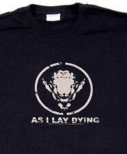 AS I LAY DYING Sheep T-shirt Metalcore Thrash Metal Tee LARGE Black New