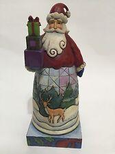 Jim Shore Santa  Stone Santa Holiday Gifts 2008 Figurine #4010848