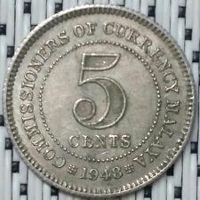 *GOOD Grade* 1948 - Malaya - 5 Cents George VI #CBRS