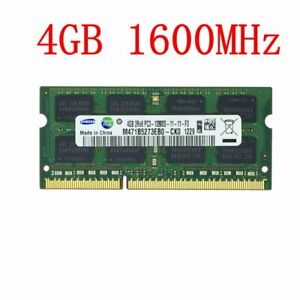 4GB 1GB PC3-12800S DDR3 1600mhz 204Pin CL11 SODIMM Laptop RAM For Samsung LOT CA