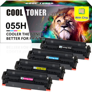 4× Toner Compatible for Canon 055H 055 imageClASS MF741Cdw MF743Cdw with Chip