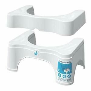 """Squatty Potty The Original  Adjustable 2.0, Convertible to 7"""" or 9"""" Height White"""