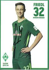 Autogramm - Marco Friedl (Werder Bremen) - 2017/2018 - Neu in Winterpause