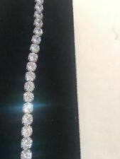 "10Ct Diamond Tennis Bracelet 7.0 "" 1 Row Round Diamonds perfect 14K White Gold"