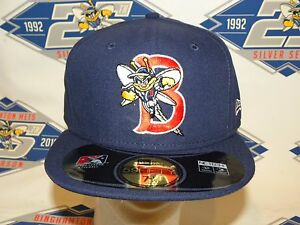 Binghamton Mets New Era 59Fifty On-Field Official Game Hat - Brand New
