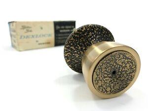 Vintage Dexter Doorknob Parts, Brass Door Knob, Dexlock, Mid Century, Incomplete