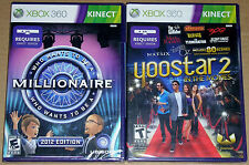 XBox 360 KINECT Game Lot - Yoostar 2 In the Movies Who Wants to be a Millionaire