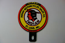 "INDIAN MOTORCYCLES ST LOUIS License Plate Topper 4"" High by 3"" Wide"