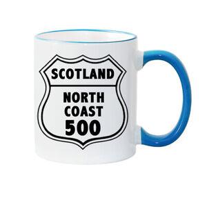 NC 500 MUG - North Coast Scotland - Travel Mug - Water Bottle - Coaster