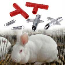 10 pcs Rabbit Nipple Water Drinker Poultry Feeder Bunny Rodent Portable Tool