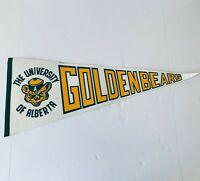 "Vintage University of Alberta Golden Bears Souvenir Pennant 30"""