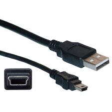 NUOVO USB 2.0 A MINI B 1,2 M METRI NERO FOTOCAMERA PS3 dati SAT NAV Cellulare Cavo Di Piombo