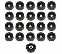 20 SMALL SOFT ROUND RUBBER FEET .671 W x .250 H - CUTTING BOARDS HOBBY  US MADE