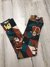 Girls LuLaRoe Christmas Santa Leggings Size L/XL