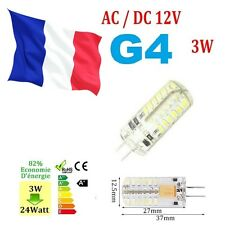 G4 LED Ampoule Lampe AC / DC 12V 3W 48 LEDs SMD 3014 Blanc chaud  ref r145