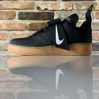 Nike Air Force 1 Utility Mens Black White Gum Leather Athletic Shoes US 11