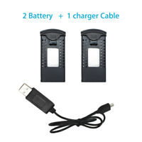 2PCS 3.7V 900mAh Lithium Batteries + Charger For SG700/DM107S RC Drone Aircraft