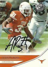 Aaron Ross Signed Auto 2007 Press Pass Texas Longhorns RC Card - NY Giants - COA