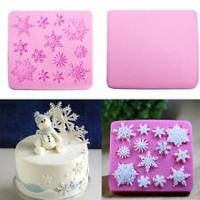 Snowflake Cake Mould Frozen Winter Christmas Sugar Cupcake Topper Chocolate