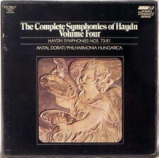 4 LP BOX LONDON ffrr UK Haydn DORATI Symphonies Vol 4 #s 73-81 STS-15182/5 EX