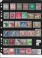 Stamp set  5054 / Third Reich era / Regular postage Stamps / ALL MH / Germany