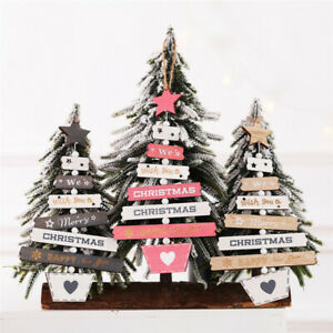 Christmas tree ornaments decor items color wooden hollow Christmas-tree pendant-