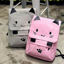 Japanese Sweet Cute Cartoon Cat Canvas Travelling Bag Backpack Schoolbag Girl