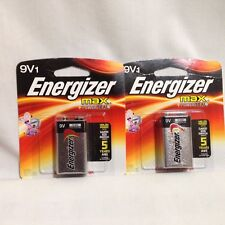 Energizer Max 9V Plus Power seal Battery Batteries Lot of 2 Exp 12-2021