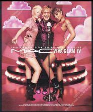 2002 Elton John Shirley Manson Mary J Blige photo Mac Viva vintage print ad